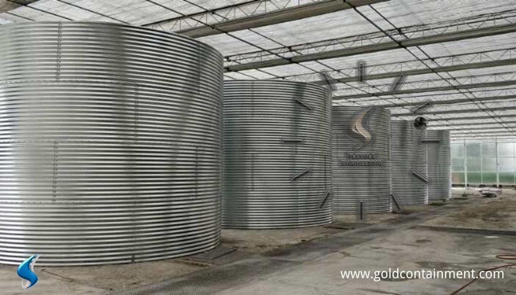 water tank liner installation